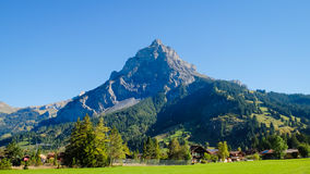Kandersteg Mountain in Switzerland, Europe. Mountain View. Swiss Alps Stock Images