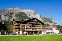 Kandersteg Mountain in Switzerland,. Europe. Mountain View. Swiss Alps Stock Image