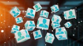 Kandidaat voor de illustratie van de baankubus het 3D teruggeven Royalty-vrije Stock Afbeeldingen