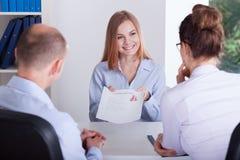 Kandidat, der Anwendung darstellt Lizenzfreie Stockbilder