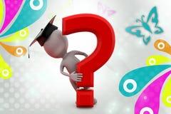 kandidat för man 3d med illustrationen för frågefläck Royaltyfria Foton