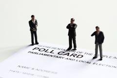Kandidat A för röstningkortmodell Arkivbilder