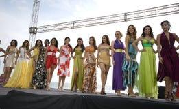 Kandidaten 2008 des Fräuleins Ecuador Stockfoto