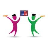 Kandidater med den amerikanska boken vektor illustrationer