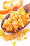 Kandierte orange Schale Lizenzfreie Stockfotografie