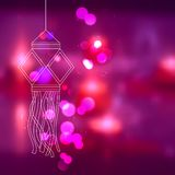 Kandil de suspensão na noite de Diwali Fotografia de Stock Royalty Free