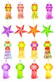 Kandil variopinto per la decorazione di Diwali Immagine Stock