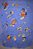 瓦西里Kandinsky天蓝色 免版税库存照片