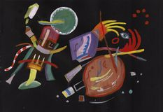 On Kandinsky`s motives. Abstract picture, horor nightmare Stock Photography