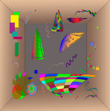 Kandinsky style abstract figures Royalty Free Stock Images