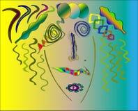 Kandinsky style abstract, marilyn monroe. Stock Photo