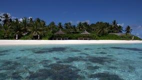 kandoludu Мальдивы пляжа уединило тропическое Стоковая Фотография