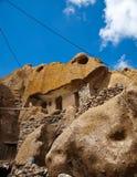 Kandovan村庄在大不里士,伊朗 库存照片