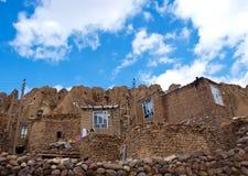 Kandovan村庄在大不里士,伊朗 图库摄影