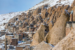Kandovan Vilage Near Tabriz Royalty Free Stock Photo