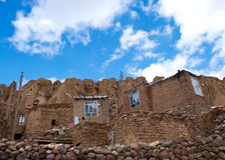Kandovan village in Tabriz, Iran Stock Photography