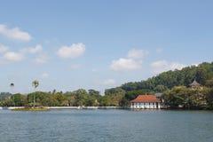 Kandy湖,斯里兰卡 库存图片