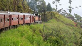 Kandy à viagem de trem de Ella - Sri Lanka imagens de stock
