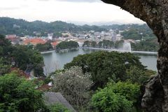 Kandy is a city in the Central part of Sri Lanka, one of the ancient capitals of the island Stock Photos