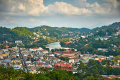 Kandy city in Sri Lanka Royalty Free Stock Photography