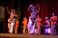 The Kandy dance at a performance in Sri Lanka. 14. December 2017 Royalty Free Stock Photos
