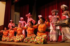 The Kandy dance at a performance in Sri Lanka. 14. December 2017 Stock Image