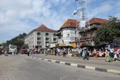 Kandy es una ciudad en la parte central de Sri Lanka, una de las capitales antiguas de la isla Incluido en la lista del patrimoni Fotografía de archivo libre de regalías
