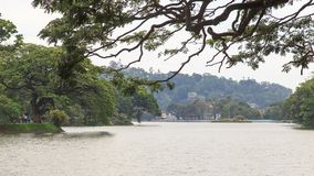 Lake Kandy - Sri lanka. Kandy Lake , also known as Kiri Muhuda or the Sea of Milk, is an artificial lake in the heart of the hill city of Kandy, Sri Lanka, built royalty free stock image
