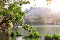 Kandy lake near to Sri Dalada Maligawa, Kandy, Sri Lanka. Kandy lake near to Sri Dalada Maligawa Temple of tooth relic, Temple of Buddha tooth, Kandy city, Sri stock photos