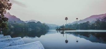 Kandy Lake, Sri Lanka. Kandy Lake Sinhalese: බෝගම්බර වැව/ කිරි මූද royalty free stock photo