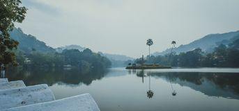 Kandy Lake Sri Lanka. Kandy Lake, also known as Kiri Muhuda or the Sea of Milk, is an artificial lake in the heart of the hill city of Kandy, Sri Lanka, built in stock images