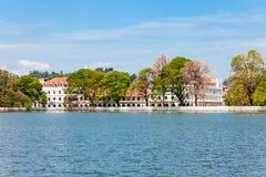 Kandy Lake, Sri Lanka. Kandy Lake at daytime. Lake is located in Kandy city, Sri Lanka royalty free stock images