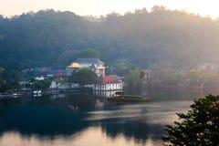 Kandy lake and temple view in Sri Lanka. Kandy lake and temple landmark view in Sri Lanka stock image