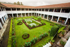 Kandy Market Hall. Sri Lanka. Cloister garden. Royalty Free Stock Photo