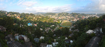 Kandy panorama. Sacred city of kandy, sri lanka Stock Photography