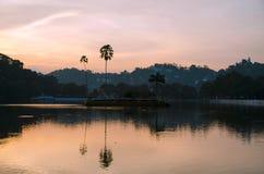 Kandy See Lizenzfreies Stockfoto