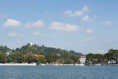 Kandy sjö, Sri Lanka Arkivbild