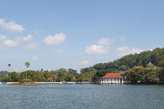 Kandy sjö, Sri Lanka Arkivbilder