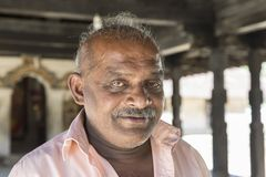 KANDY, SRI LANKA – February 13th, 2017: Portrait of man in sri lanka Royalty Free Stock Photography