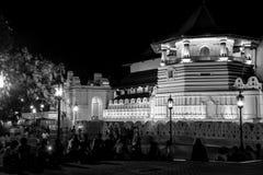 Kandy Sri Lanka Buddistisk tempel av den sakrala tandreliken arkivbilder