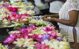 KANDY SRI LANKA - DECEMBER 01: , 2016: Tempel av den sakrala tutet Royaltyfri Bild