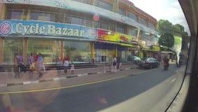 KANDY, SRI LANKA - FEBRUARY 2014: Timelapse of view on the Sri Lankan traffic from tuktuk. stock video footage
