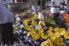 KANDY SRI LANKA, GRUDZIEŃ, - 01: , 2016: Różnorodni warzywa w veg Obraz Royalty Free