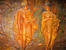 Kandy Sri Lanka - Maj 02, 2009: Tempel av den sakrala tandreliken Fotografering för Bildbyråer