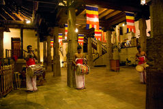 KANDY, SRI LANKA - MAY 15: Three drummers beat their drums durin Stock Photo