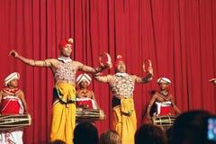 Kandy, Sri Lanka, am 22. Oktober 2011: Kandyan-Tanz-Leistung lizenzfreie stockfotos