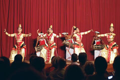 Kandy, Sri Lanka, am 22. Oktober 2011: Kandyan-Tanz-Leistung stockfotos