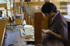 Kandy, Sri Lanka, 20 Oktober, 2013: onbekende mas Stock Foto's