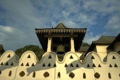 Kandy, Sri Lanka - temple of the tooth Sri Lankan bell tower Royalty Free Stock Photos