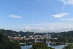 Kandy stad, Sri Lanka Arkivbild